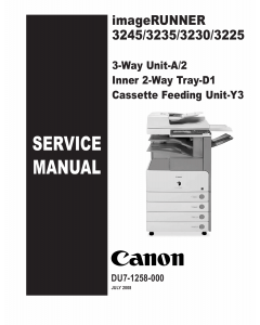 Canon imageRUNNER iR-3245 3235 3230 3225 Parts and Service Manual