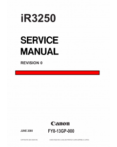 Canon imageRUNNER iR-3250 Parts and Service Manual