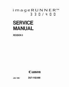 Canon imageRUNNER iR-330 330E 330S 400 400E 400S Parts and Service Manual