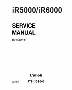 Canon imageRUNNER iR-5000 6000 Parts and Service Manual