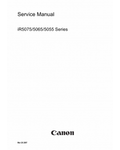 Canon imageRUNNER iR-5075 5065 5055 Parts and Service Manual