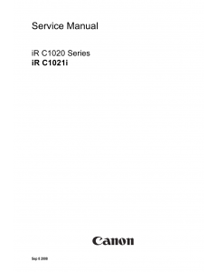 Canon imageRUNNER iR-C1020 C1021i Parts and Service Manual