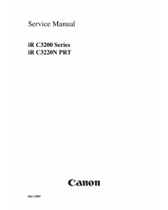 Canon imageRUNNER iR-C3200 C3200N Parts and Service Manual