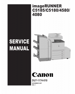 Canon imageRUNNER iR-C5185 C5180 C4580 C4080 Parts and Service Manual