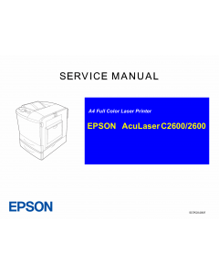 EPSON AcuLaser C2600 Service Manual