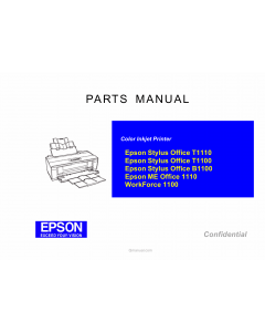 EPSON StylusOffice T1110 T1100 B1100 MEOffice-1100 Parts Manual