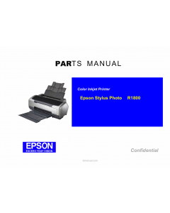EPSON StylusPhoto R1800 Parts Manual