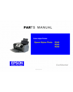 EPSON StylusPhoto R240 R245 R250 Parts Manual