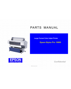 EPSON StylusPro 10600 Parts Manual