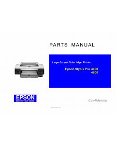 EPSON StylusPro 4400 4800 Parts Manual