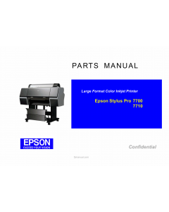 EPSON StylusPro 7700 7710 Parts Manual