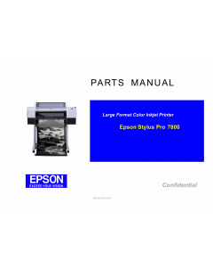 EPSON StylusPro 7800 Parts Manual