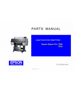 EPSON StylusPro 7900 7910 Parts Manual