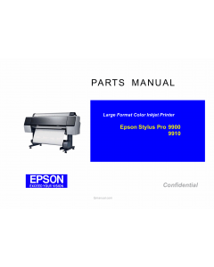 EPSON StylusPro 9900 9910 Parts Manual