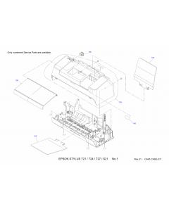 EPSON Stylus T21 T24 T27 S21 Parts Manual