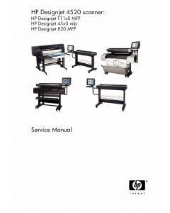HP DesignJet T1100MFP 4520mfp 4500 Scanner 4520 Scanner 820MFP Service Manual