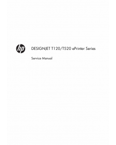 HP DesignJet T120 T520 Service Manual