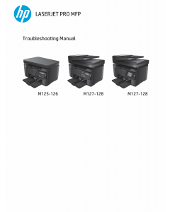 HP LaserJet Pro-MFP M125 M126 M127 M128 Troubleshooting Manual PDF download