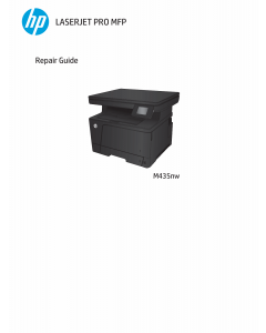 HP LaserJet Pro-MFP M435nw Parts and Repair Guide PDF download
