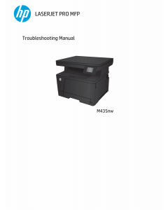 HP LaserJet Pro-MFP M435nw Troubleshooting Manual PDF download