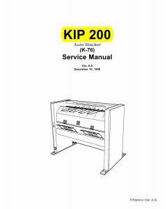 KIP 200 K-76 Parts and Service Manual