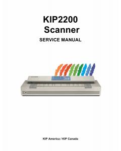 KIP 2200 Parts and Service Manual