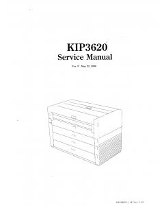 KIP 3620 K-42 Parts and Service Manual