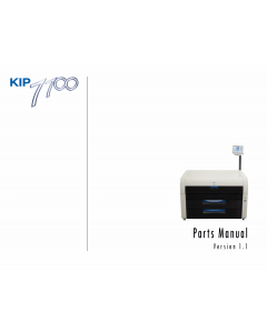 KIP 7700 Parts Manual
