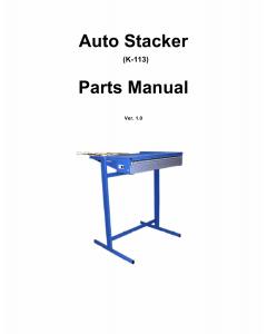 KIP K-113 Stacker Parts Manual
