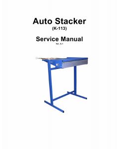 KIP K-113 Stacker Service Manual