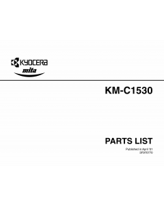 KYOCERA ColorCopier KM-C1530 Parts Manual