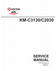 KYOCERA ColorCopier KM-C2030 C3130 Parts and Service Manual