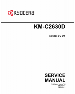 KYOCERA ColorCopier KM-C2630D Parts and Service Manual