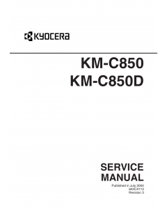 KYOCERA ColorCopier KM-C850 C850D Parts and Service Manual