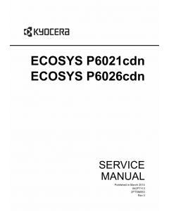 KYOCERA ColorLaserPrinter ECOSYS-P6021cdn P6026cdn Service Manual