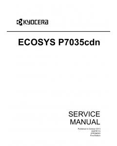 KYOCERA ColorLaserPrinter ECOSYS-P7035cdn Service Manual