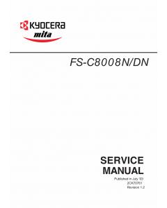 KYOCERA ColorLaserPrinter FS-C8008N DN Parts and Service Manual