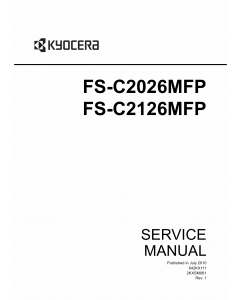 KYOCERA ColorMFP FS-C2026MFP C2126MFP Service Manual