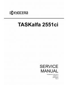 KYOCERA ColorMFP TASKalfa-2551ci Service Manual