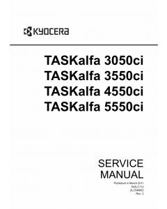 KYOCERA ColorMFP TASKalfa-3050ci 3550ci 4550ci 5550ci Service Manual