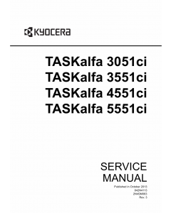 KYOCERA ColorMFP TASKalfa-3051ci 3551ci 4551ci 5551ci Service Manual