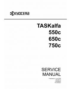 KYOCERA ColorMFP TASKalfa-550c 650c 750 Service Manual