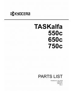 KYOCERA ColorMFP TASKalfa-550c 650c 750c Parts Manual