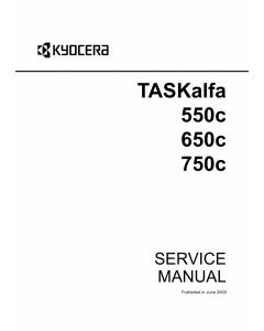 KYOCERA ColorMFP TASKalfa-550c 650c 750c Parts and Service Manual