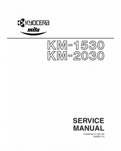 KYOCERA Copier KM-1530 2030 Service Manual