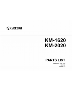 KYOCERA Copier KM-1620 2020 Parts Manual