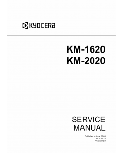 KYOCERA Copier KM-1620 2020 Service Manual