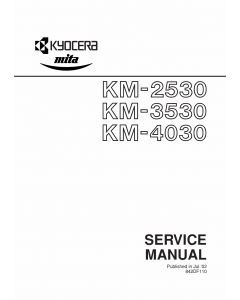 KYOCERA Copier KM-2530 3530 4030 Service Manual