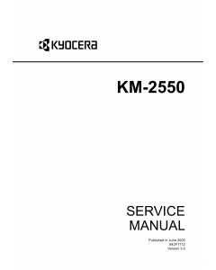 KYOCERA Copier KM-2550 Service Manual