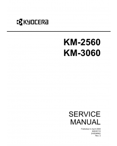KYOCERA Copier KM-2560 3060 Service Manual
